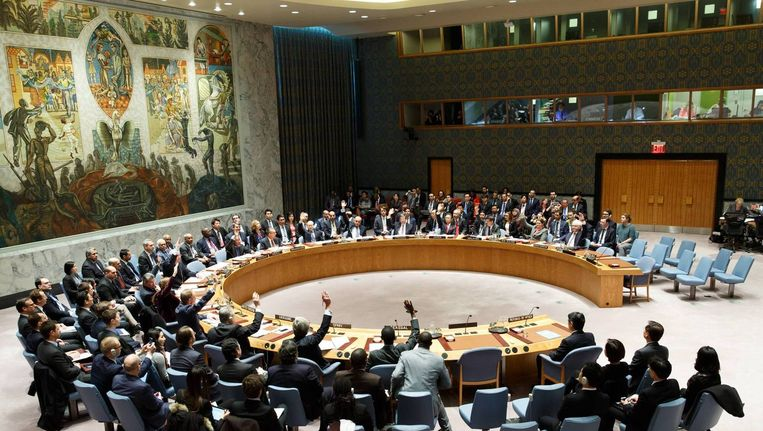 Stemming in de VN-veiligheidsraad. Beeld Hollandse Hoogte