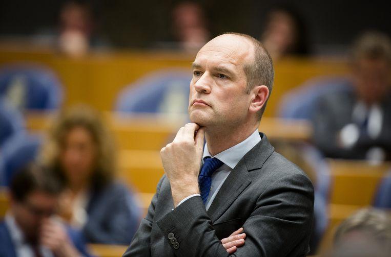 Gert Jan Segers (Christenunie): 'Wat is nog het verschil tussen de staat en een roversbende als de overheid niet is onderworpen aan de wet?' Beeld anp
