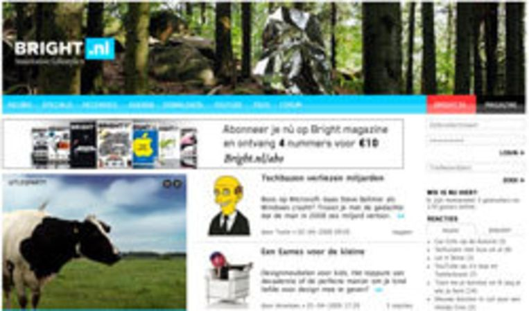 Website van Bright Beeld