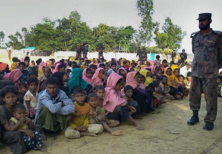 De Rohingya in Bangladesh. Beeld AFP