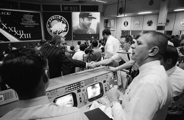 De Manned Spacecraft Center van de Nasa in Houston na de landing van de Apollo 13. Beeld Nasa