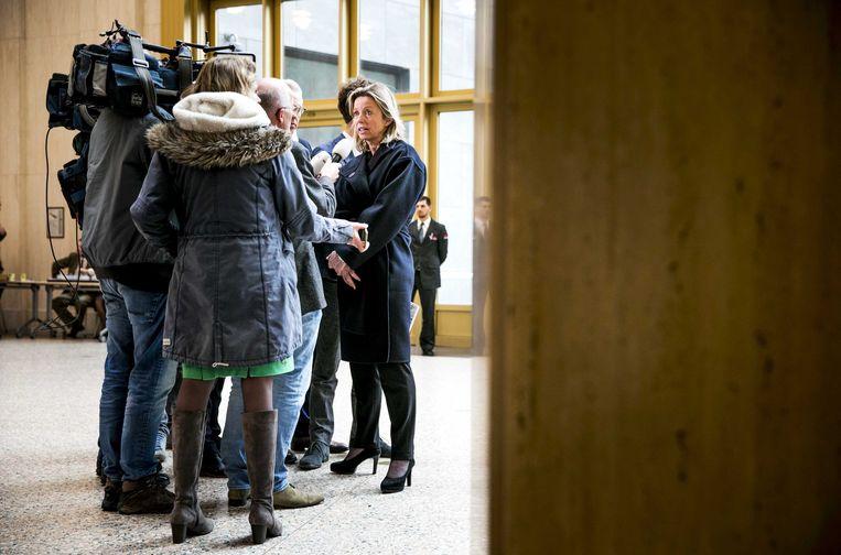 Minister Kajsa Ollongren van Binnenlandse Zaken reageerde donderdag op de uitslag van het raadgevend referendum over de nieuwe inlichtingenwet. Beeld ANP