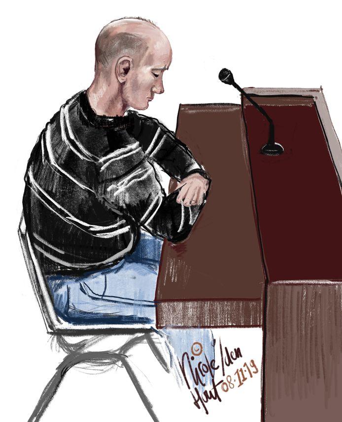 De 40-jarige verdachte tijdens de zitting.