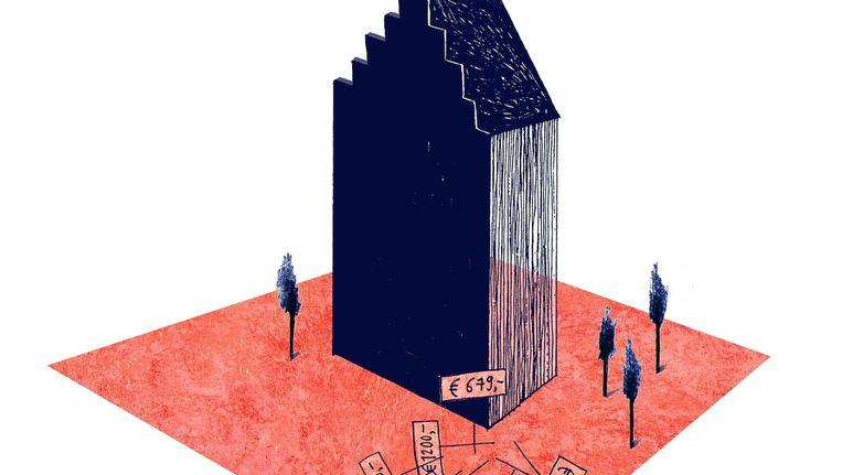 Middeninkomens in Amsterdam: Te rijk voor sociale huur, te arm om te kopen Beeld Merel Corduwener