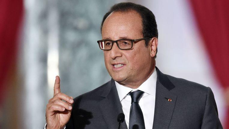 De Franse president Hollande. Beeld afp