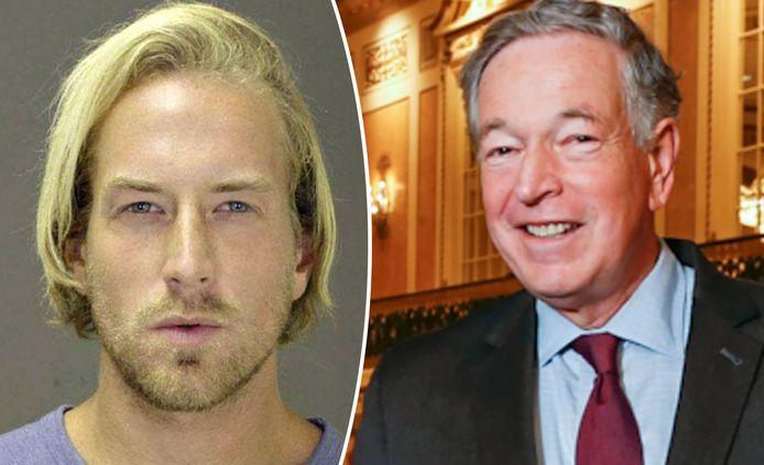 Thomas Gilbert Jr. (links) is veroordeeld tot dertig jaar cel voor de moord op zijn vader (rechts).