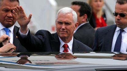 """Vicepresident Pence: """"Tijd van gefaalde dialoog met Noord-Korea is voorbij"""""""