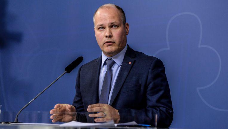 De Zweedse minister van Migratie Morgan Johansson.