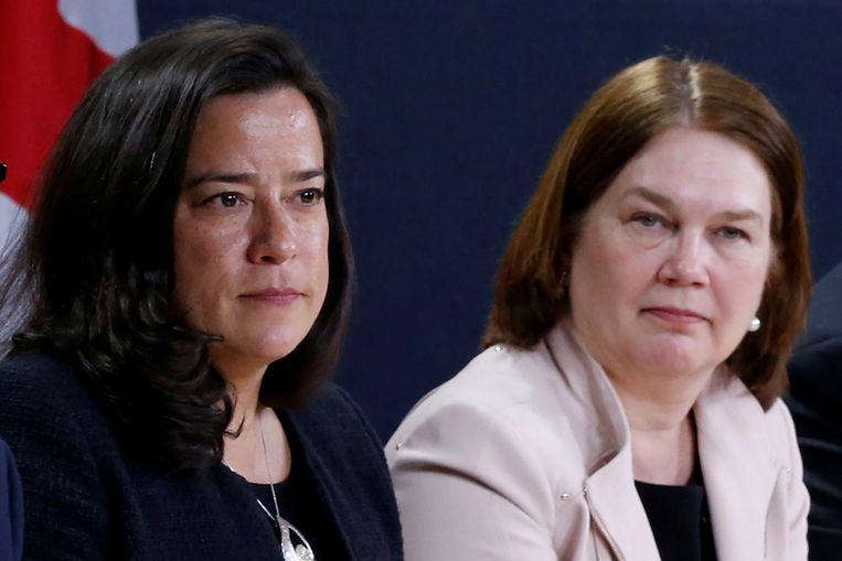 Jody Wilson-Raybould en Jane Philpott. Beeld Reuters