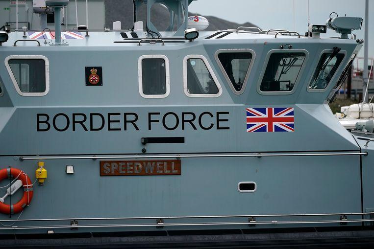 Een kustwachtboot in Dover. Beeld null