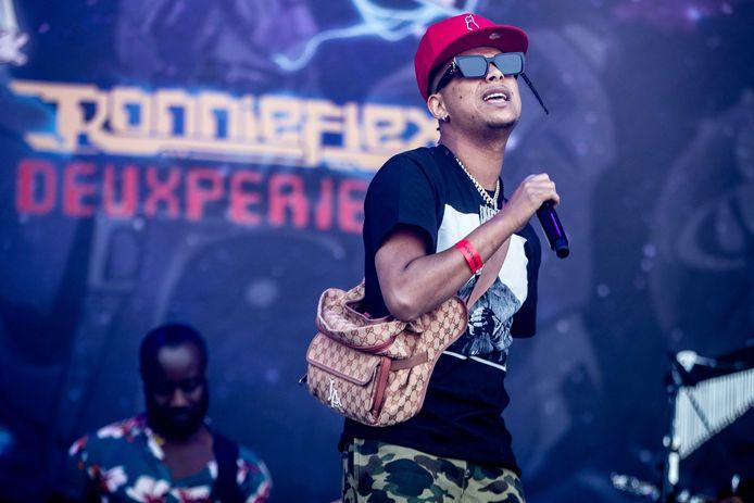 Rapper Ronnie Flex op Parkpop.