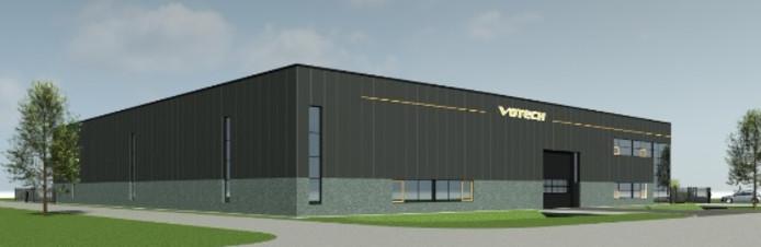 Het nieuwe bedrijfspand van Votech op bedrijventerrein Kleine Hoeven.