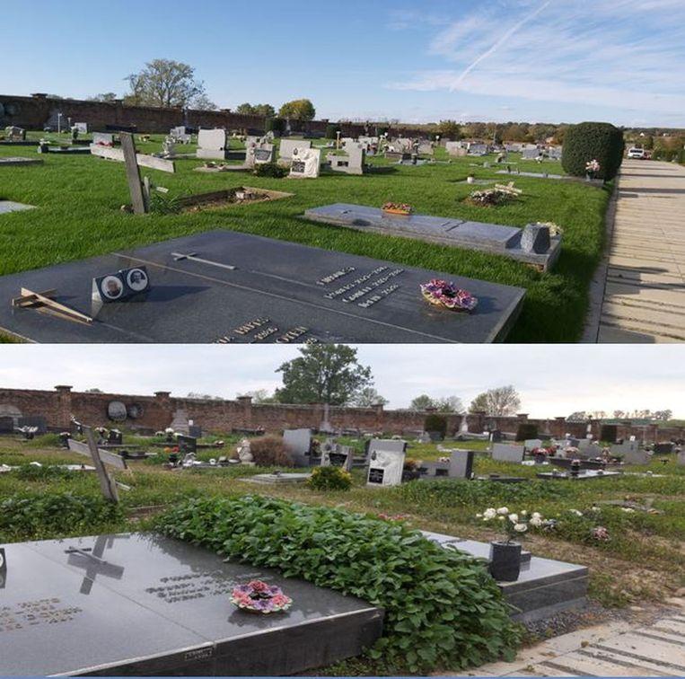 In mei lag de begraafplaats er verloederd bij. Nu is het gelukkig beter...