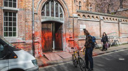 "Luca School of Arts mikpunt van vandalen: ""Neen, die rode verf is géén kunstproject"""