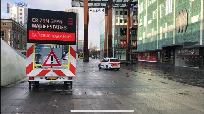 Zondagochtend was het nog rustig in de binnenstad van Eindhoven.