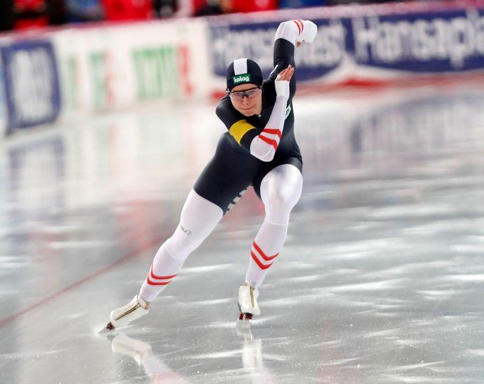 Vanessa Herzog wint de 500 meter in Hamar.