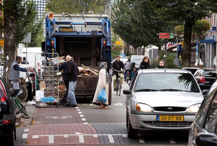 De verkeersoverlast op de Kanaalstraat is een grote ergernis.