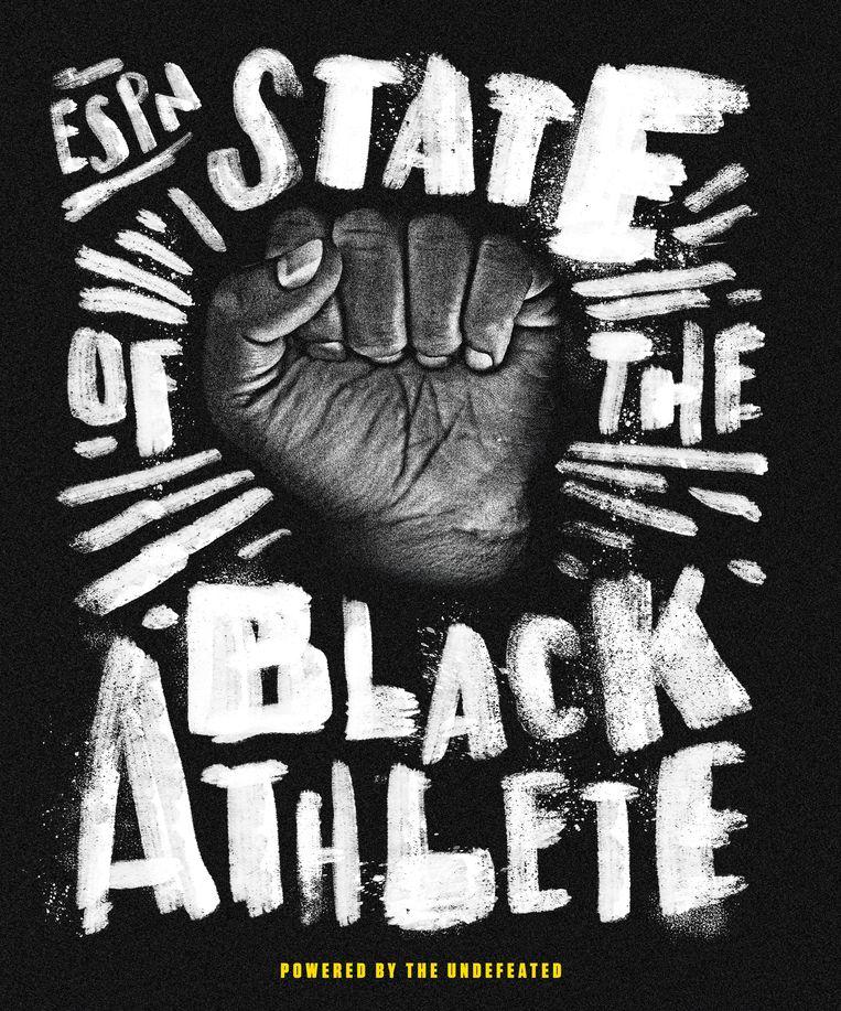De zwart-wit cover van het sportblad ESPN, favoriet van Jaap Biemans, artdirector van Volkskrant Magazine. Beeld ESPN