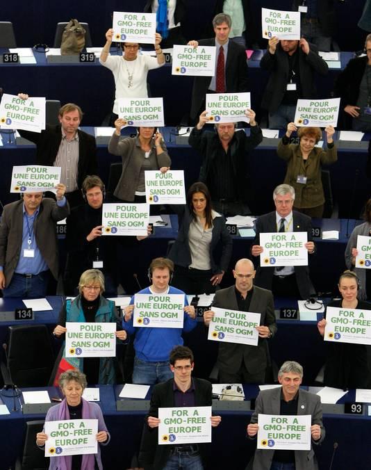 Action des Verts européens contre la culture d'OGM (mars 2010)
