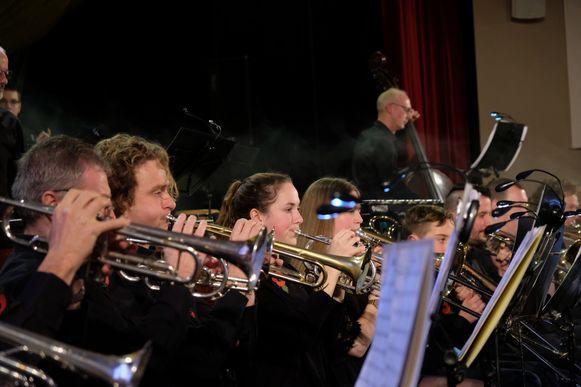 Een repetitie van Harmonie De Arend