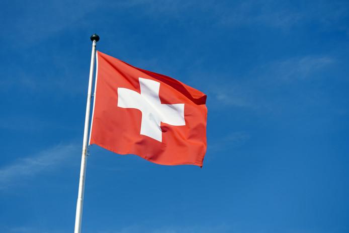 Zwitserse vlag ter illustratie.