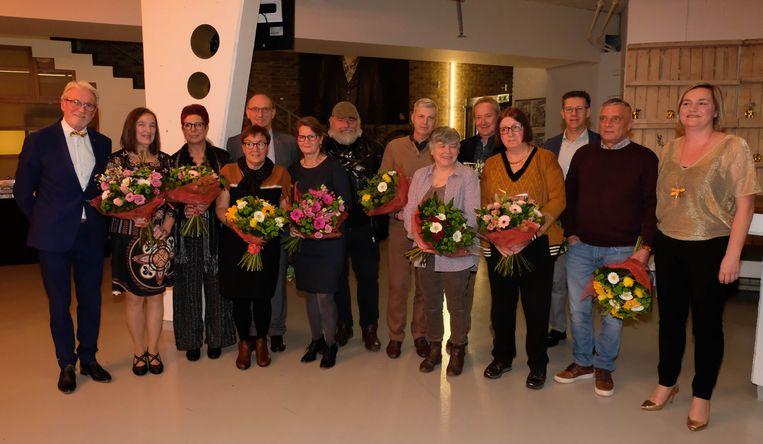 De stadsmedewerkers die in 2018 met pensioen gingen werden in de bloemetjes gezet.