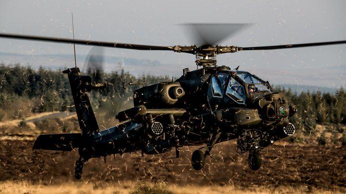 Oefeningen in het buitenland, zoals in februari vorig jaar in Engeland, werden vanwege corona afgelast. Dus oefenden de helikopters van Gilze-Rijen meer in Nederland.