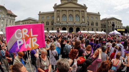 Zwitserse vrouwen staken voor gelijke rechten