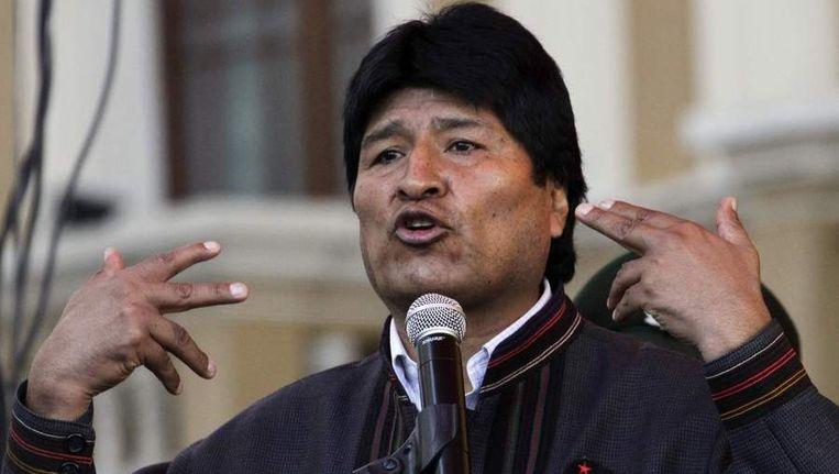 Evo Morales. Beeld reuters