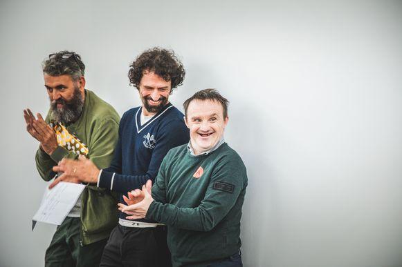 Philippe Van Cauteren met mentor Peter Van Hecke en Danny Bergeman