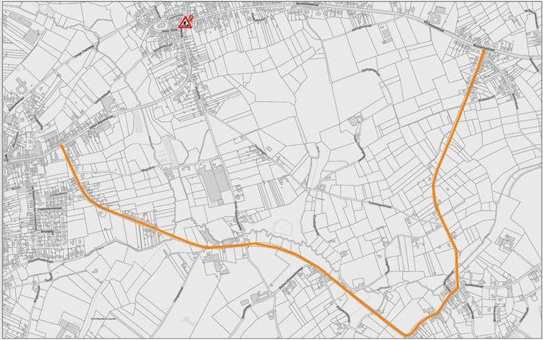 Omrijden kan via de Gustaaf Van der Steenstraat, Donkerstraat en Winkelstraat.