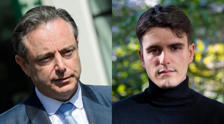 Partijvoorzitters Bart De Wever (N-VA) en Conner Rousseau.