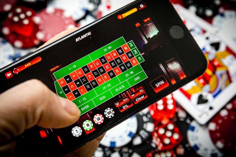Een telefoon met een online casino.