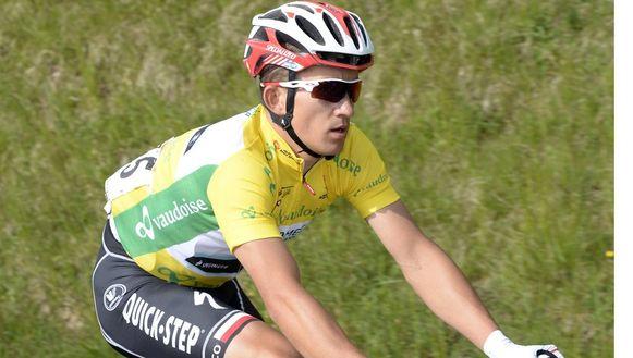 Michal Kwiatkowski maakt indruk in het peloton, ook op Tourwinnaar Chris Froome.