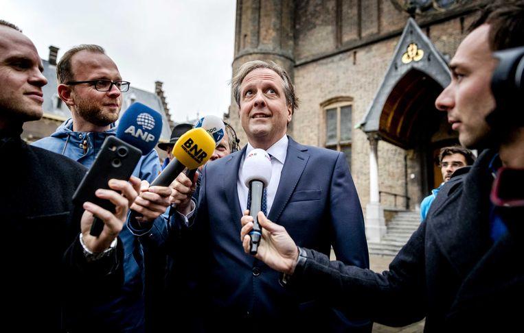 Alexander Pechtold, hier nog in functie als D66-leider, op het Binnenhof. Beeld ANP - Remko de Waal
