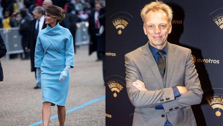 Melania Trump en Sjors Frölich. Beeld Hollandse Hoogte