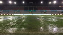 Bekermatch tussen Club en Charleroi afgelast na hevige regenval, match ingehaald op dinsdag 16 januari