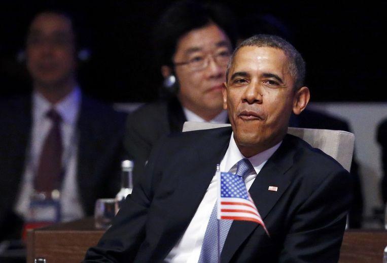 Obama bij de opening van de NSS. Beeld reuters