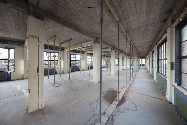 Fotograaf Herman van Heusden volgde een jaar lang de verbouwing van het Soho House. Hier de gym in wording Beeld Herman van Heusden