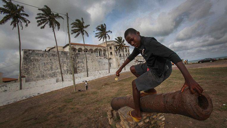 Kanon bij Elmina Castle in Ghana. Beeld EPA