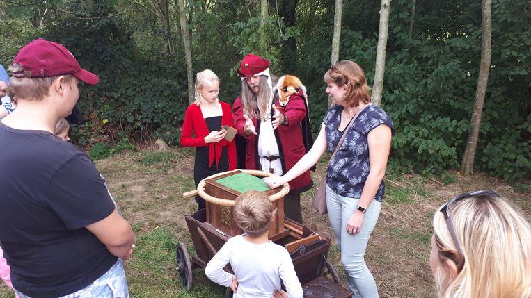 Een tovenaar bracht de bezoekers in de ban van magie.