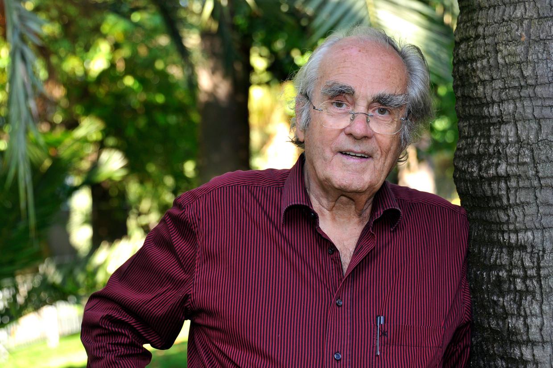 Michel Legrand op het Jazz Festival van Nice in 2011. Beeld EPA