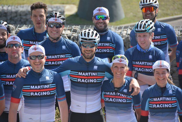 Tom Boonen werd maandag voorgesteld als nieuwe wegkapitein van Martini Racing Ciclismo, een wielertoeristenteam uit de horecasector.