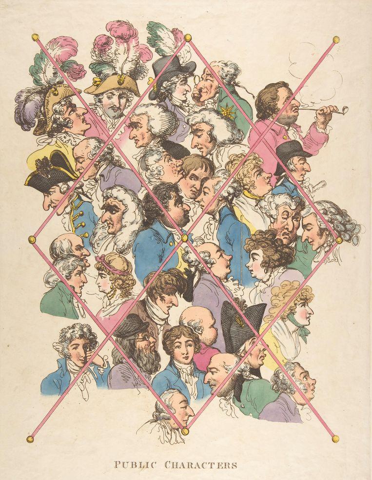 Karikatuur van Thomas Rowlandson, 1801.  Beeld Getty Images