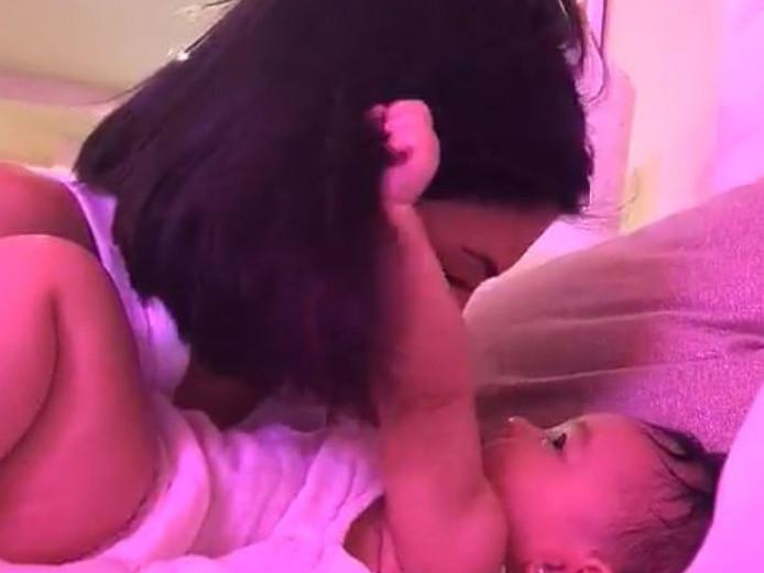 Stormi en haar moeder Kylie Jenner