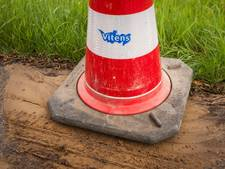 Waterleiding lek, Rijksstraatweg Meteren deels dicht