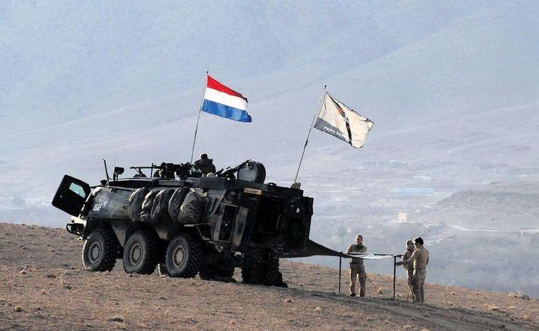 Nederlandse militairen in Uruzgan.  Beeld afp