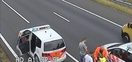 Geen vechtpartij maar man die snelweg A1 bij Voorst op loopt veroorzaakt chaos