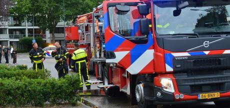 Brand door wasdroger in woning in Breda