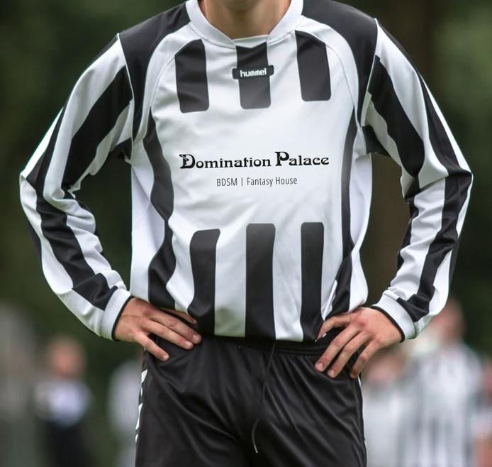 Het vijfde elftal van voetbalclub RKVV Waalre krijgt Domination Palace (seksclub / sm-club) als sponsor.
